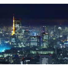 Ночь в японском городе