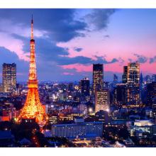 Токио на закате