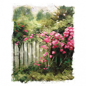 Забор и цветы