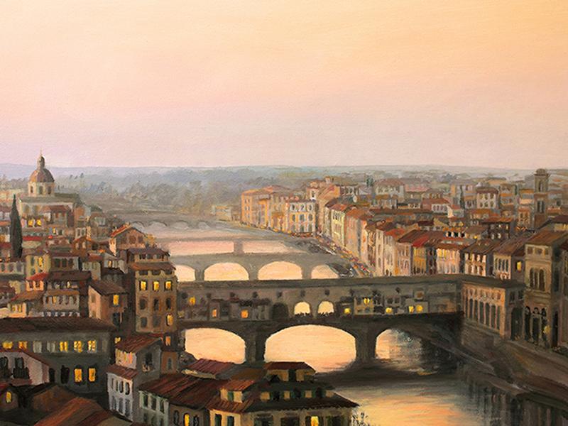 Закат над Флоренцией 1695