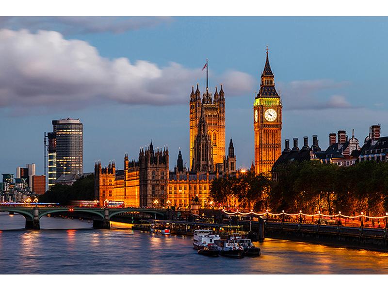 Закат в Лондоне 1703