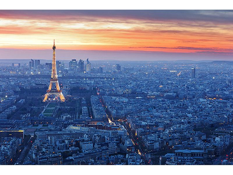 Закат в Париже 1701