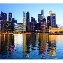 Залив в Сингапуре