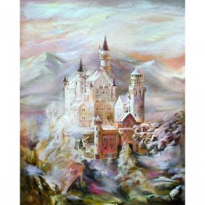 Замок на холсте