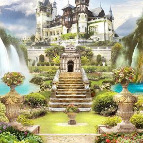 Замок у водопада