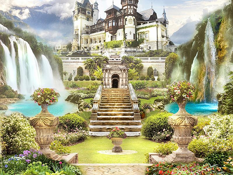 Замок у водопада 1692
