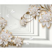 Золотые цветы в туннеле